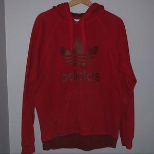 Red men's adidas hoodie